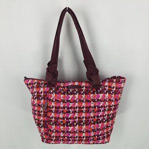 Vera Bradley bag shoulder bucket plaid